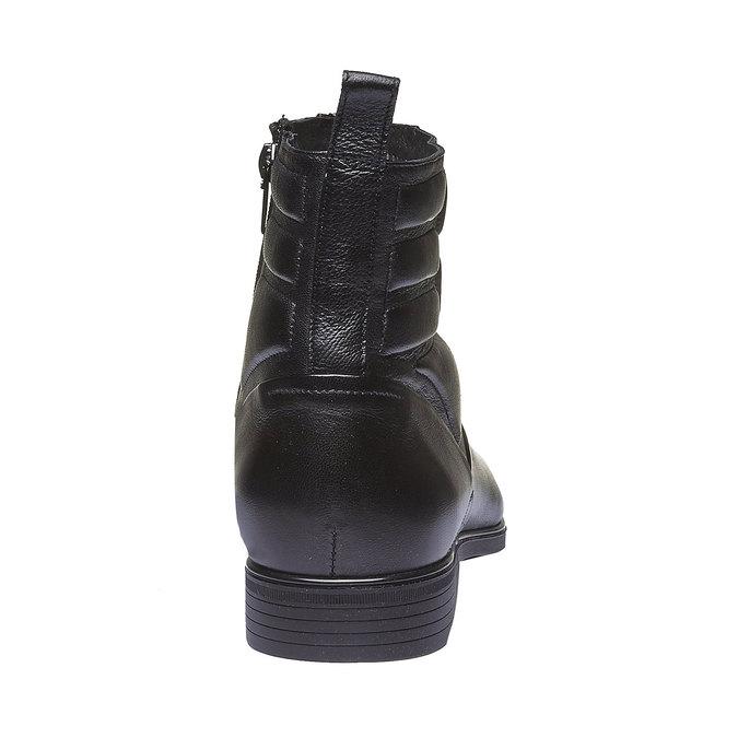 Kožená kotníčková obuv conhpol, černá, 894-6105 - 17