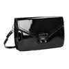 Malá dámská kabelka v lakované úpravě gabor-bags, černá, 961-6004 - 13