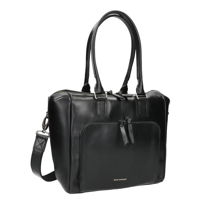 Kožená kabelka s odnímatelným popruhem royal-republiq, černá, 964-6039 - 13