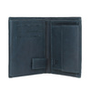 Kožená peněženka s perforací bata, modrá, 944-9175 - 15
