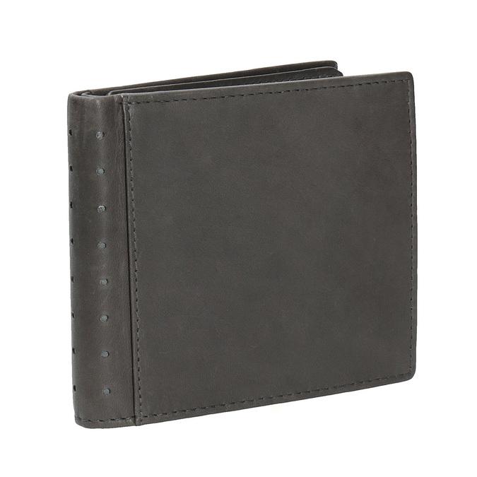 Kožená peněženka s perforací bata, černá, 944-6175 - 13