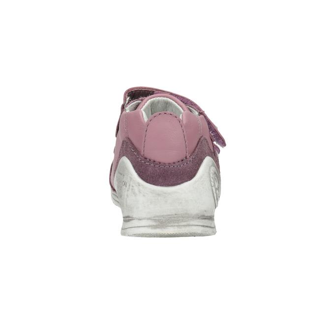Dívčí kožená obuv na suché zipy biomecanics, růžová, 124-5006 - 17