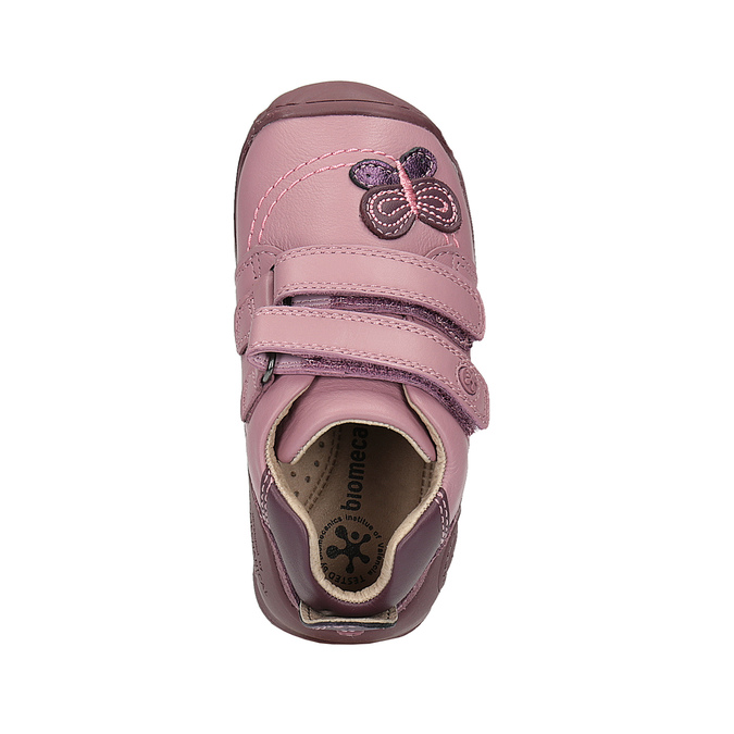 Dívčí kožená obuv na suché zipy biomecanics, růžová, 124-5010 - 19