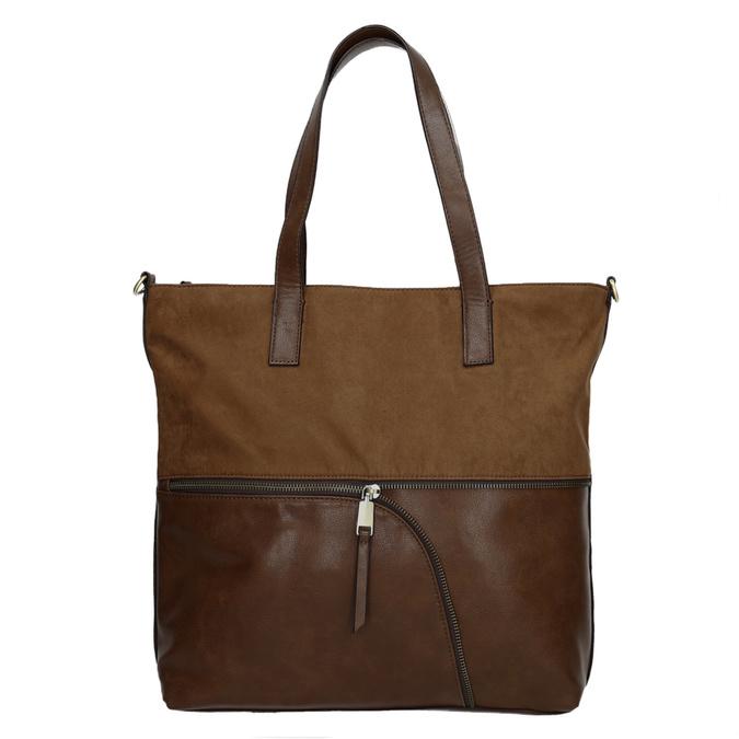 Dámská kabelka s asymetrickým zipem bata, hnědá, 961-3847 - 26