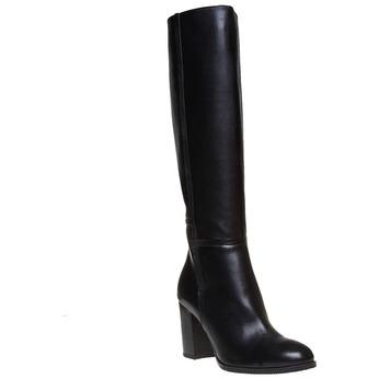 Kožené dámské kozačky bata, černá, 794-6447 - 13