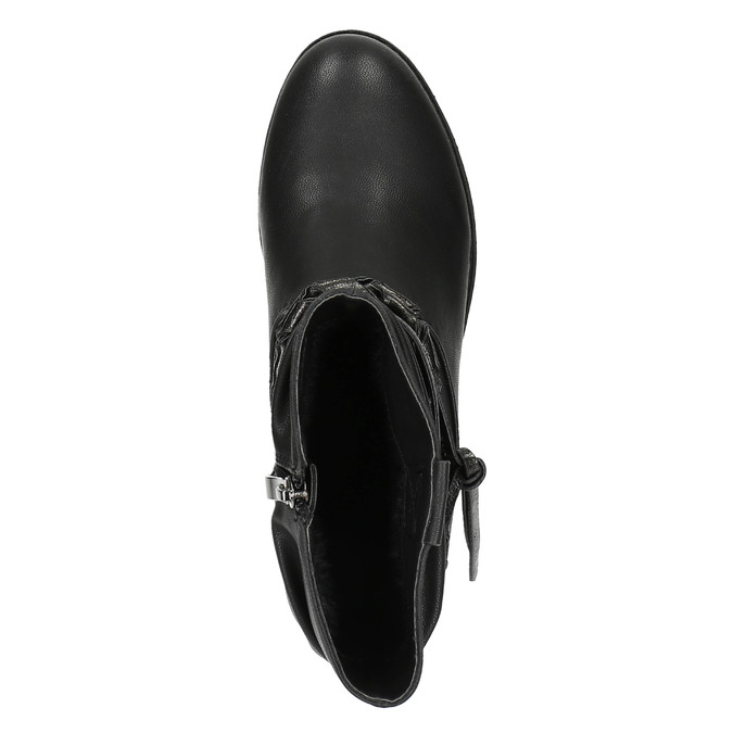 Černé kotníčkové kozačky bata, černá, 591-6610 - 19