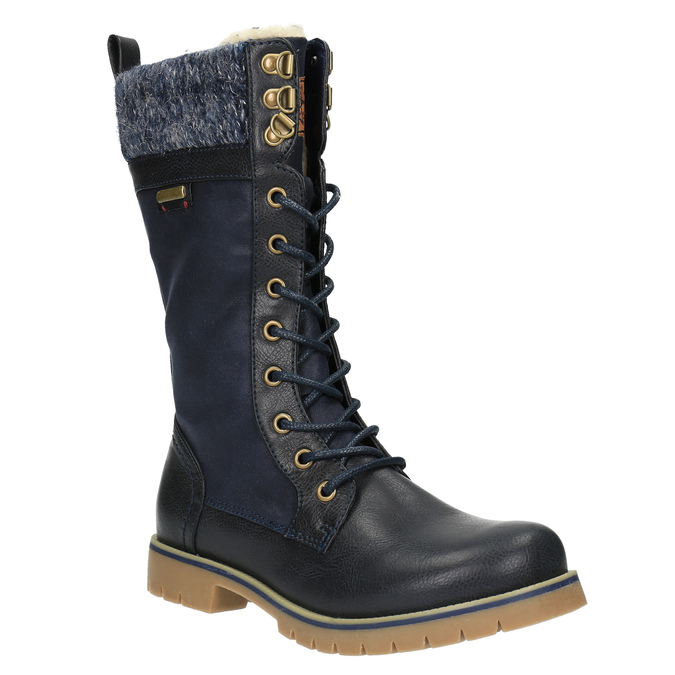 Dětská zimní obuv vysoká mini-b, modrá, 491-9650 - 13