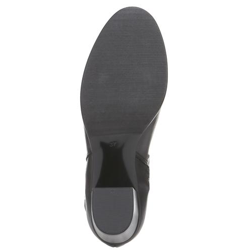 Kožené dámské kozačky bata, černá, 794-6447 - 18