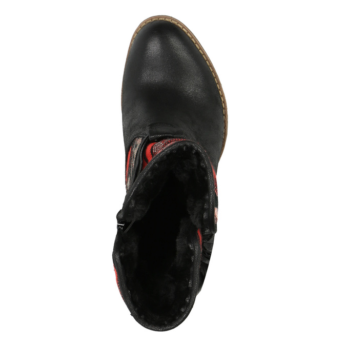 Kotníčkové kozačky ve Western stylu se zateplením bata, černá, 699-6603 - 19