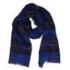 Modrá károvaná šála bata, modrá, 909-9215 - 13