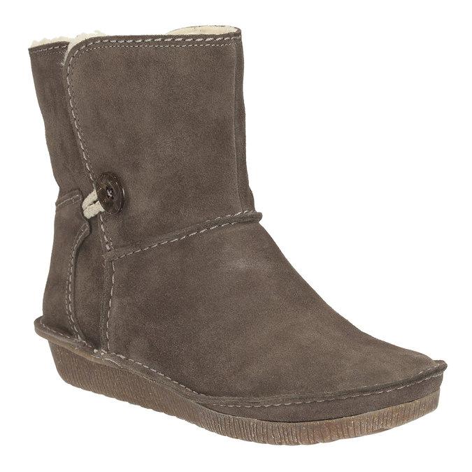 Kožené kotníkové boty clarks, 593-8101 - 13
