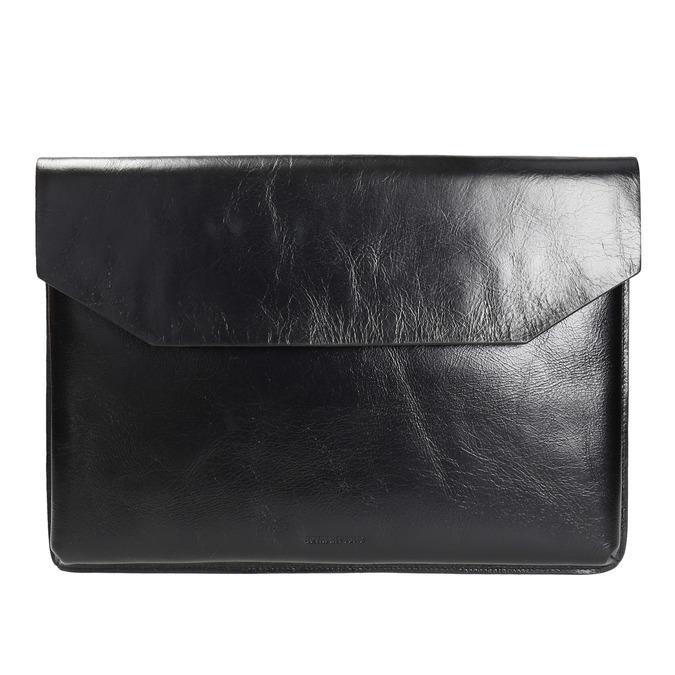 Taška na dokumenty kožená royal-republiq, černá, 964-6009 - 26