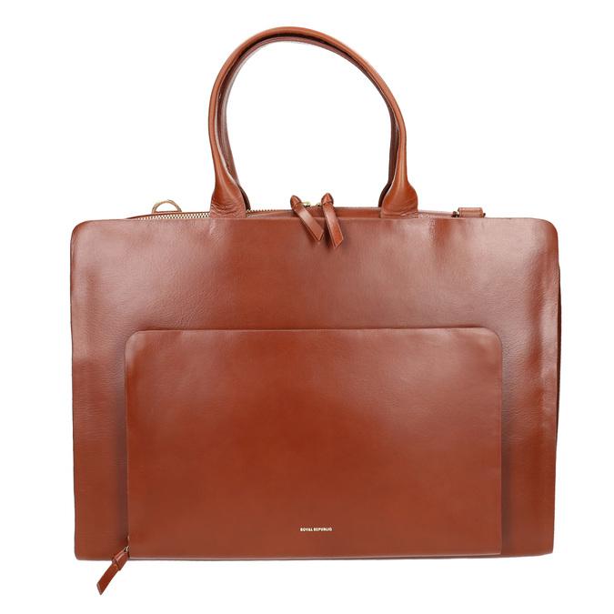 Dámská kožená kabelka royal-republiq, hnědá, 964-3002 - 26
