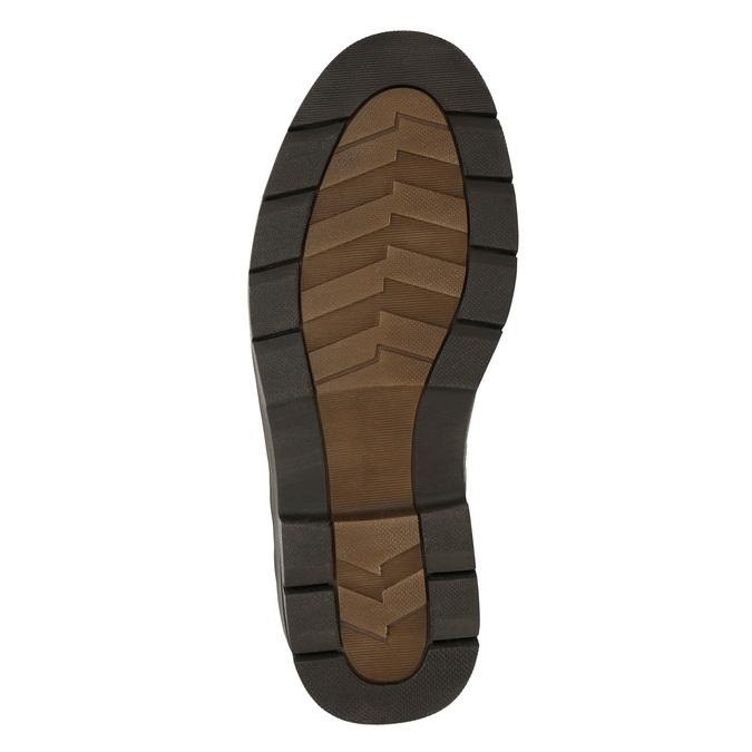 Ležérní kožené polobotky na výrazné podešvi bata, hnědá, 824-4698 - 19