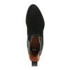 Kožená kotníčková obuv s pružnými boky bata, černá, 696-6644 - 19