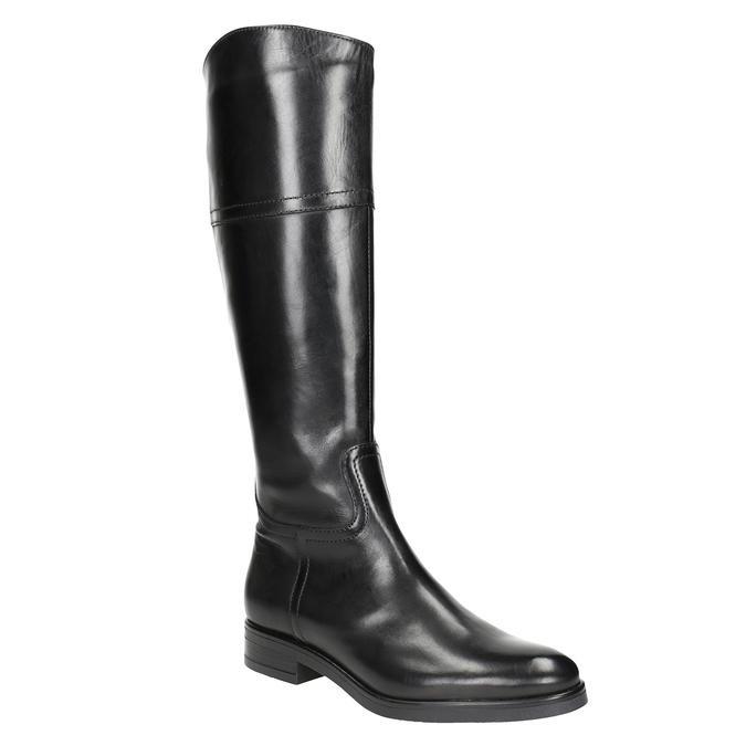 Kožené dámské kozačky bata, černá, 594-6606 - 13
