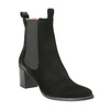 Kožená kotníčková obuv s pružnými boky bata, černá, 696-6644 - 13