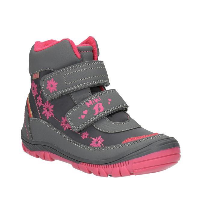 Kotníčková dětská obuv mini-b, šedá, 299-2610 - 13