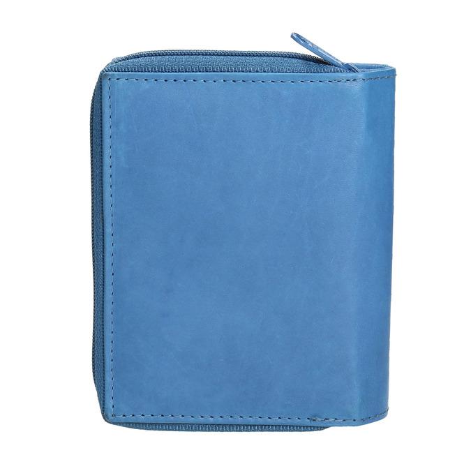 Kožená dámská peněženka bata, modrá, 944-9157 - 19