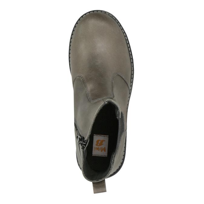 Dětská kožená kotníčková obuv mini-b, šedá, 394-2316 - 19