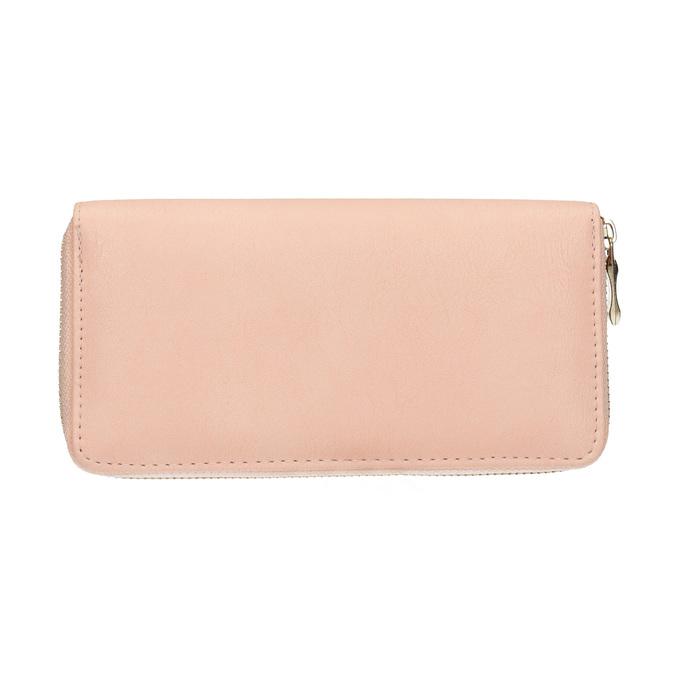 Peněženka s kovovou aplikací bata, růžová, 941-5150 - 19