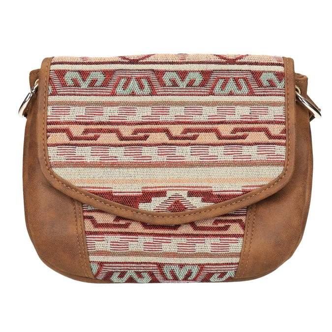 Crossbody kabelka s Etno vzorem bata, hnědá, 969-3642 - 19