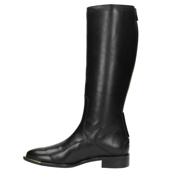 Dámské kožené kozačky classico-and-bellezza, černá, 594-6010 - 19