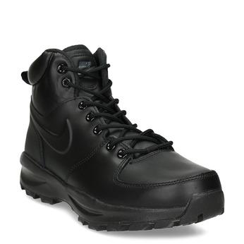Pánská kožená sportovní obuv nike, černá, 806-6435 - 13