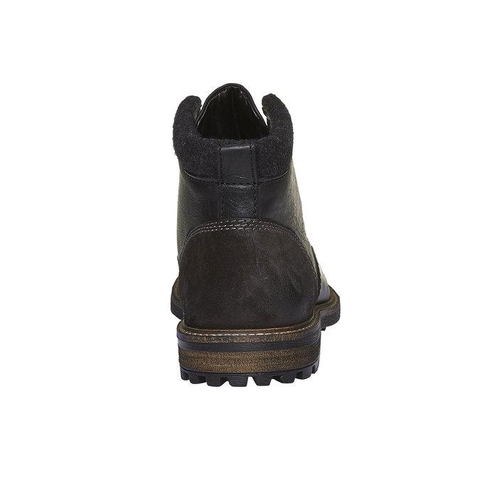 Kožená zimní obuv kotníčková bata, černá, 894-6133 - 17
