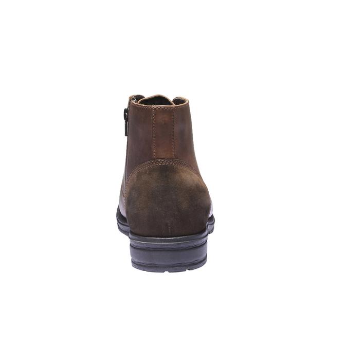 Ležérní kožená obuv bata, hnědá, 894-3555 - 17