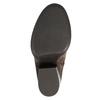 Kožené kozačky nad kolena na masivním podpatku bata, hnědá, 696-4611 - 26