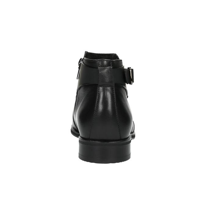 Kožená kotníčková obuv s přezkou conhpol, černá, 894-6680 - 17