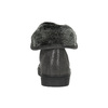 Kožené kotníčkové tenisky s kožíškem bata, šedá, 593-2601 - 17