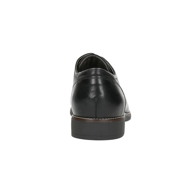 Kožené polobotky v Derby stylu bata-light, černá, 824-6616 - 17
