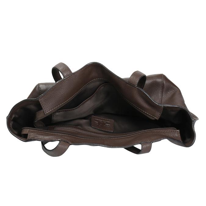 Dámská kožená kabelka hnědá bata, hnědá, 964-4205 - 15