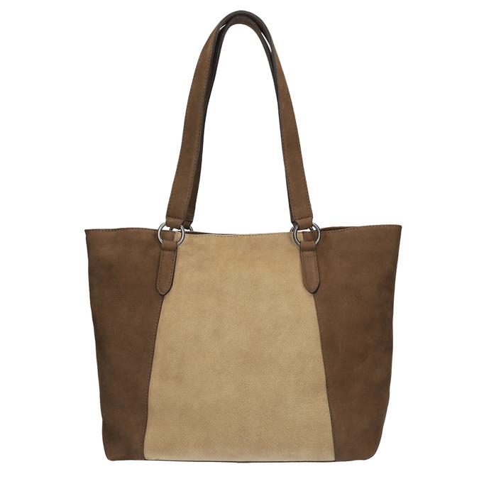 Dámská kožená kabelka bata, hnědá, 966-8200 - 19