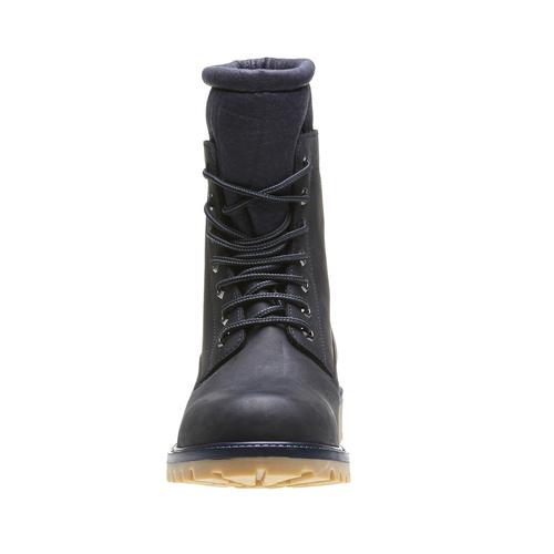 Kožená kotníčková obuv se zateplením conhpol, černá, 894-6677 - 16