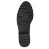 Kožené kozačky šíře H černé bata, černá, 596-6611 - 26