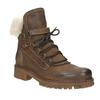 Dámská kožená zimní obuv manas, hnědá, 596-4602 - 13