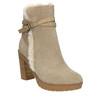 Kotníčková obuv s kožíškem bata, šedá, 793-2600 - 13