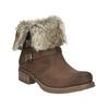 Dámská kotníčková obuv s kožíškem bata, hnědá, 591-4601 - 13