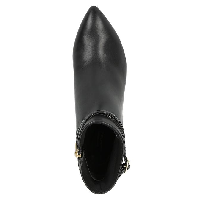 Kožená kotníčková obuv na jehlovém podpatku rockport, černá, 714-6108 - 19