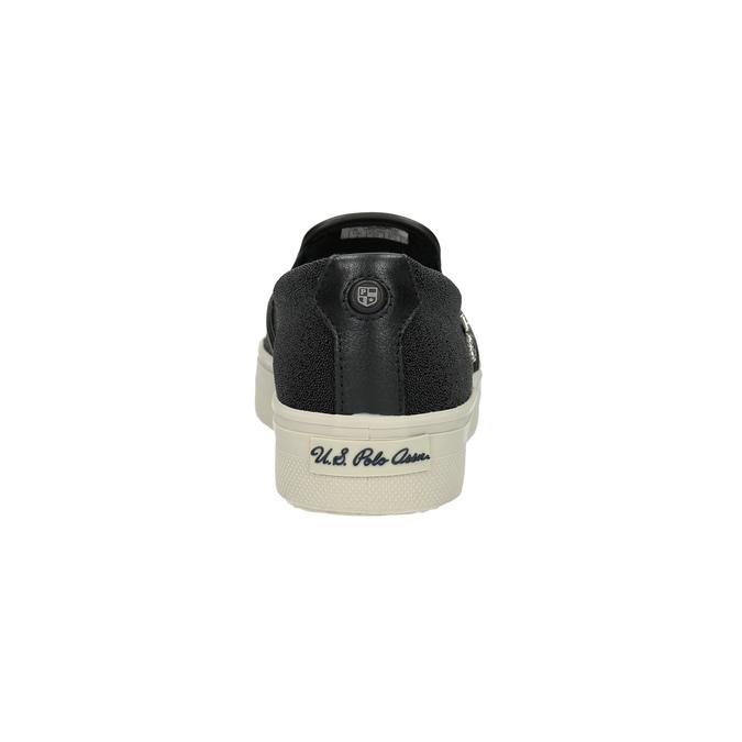 Dámská obuv ve stylu Slip-on u-s-polo-assn-, černá, 511-6070 - 17
