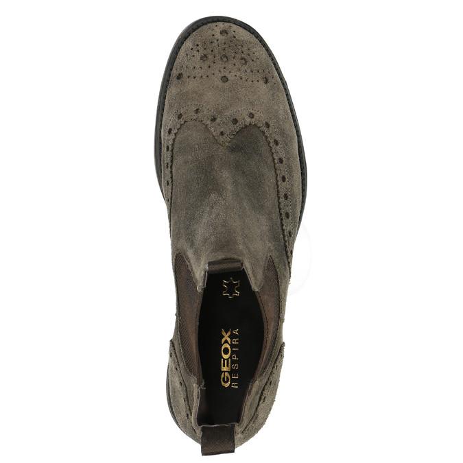 Kožené Chelsea Boots s prodyšnou podešví geox, šedá, 813-8030 - 19
