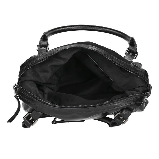 Kabelka s kovovou aplikací bata, černá, 961-6261 - 15