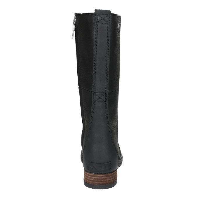 Dámská kožená obuv šněrovací sorel, černá, 596-6003 - 17