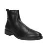Kožená kotníčková obuv s prodyšnou podešví geox, černá, 814-6030 - 13