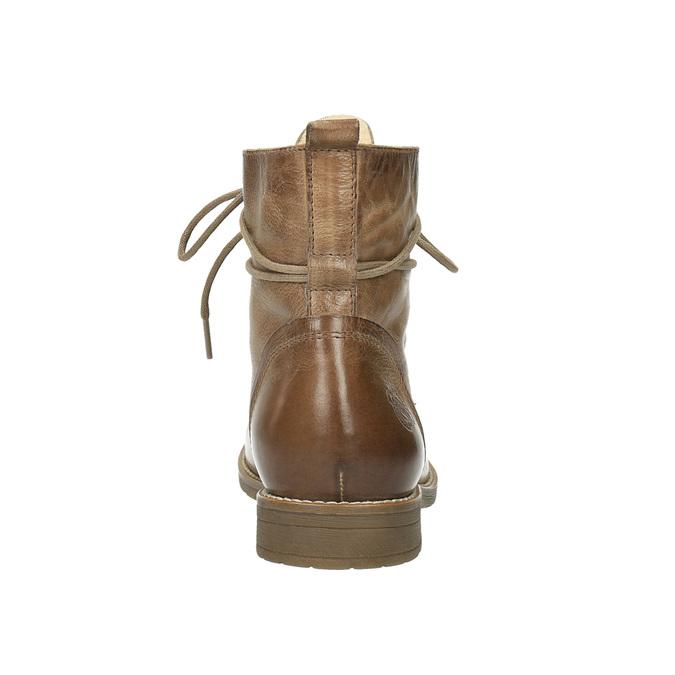 Kožená kotníčková obuv se zateplením bata, hnědá, 594-4610 - 17