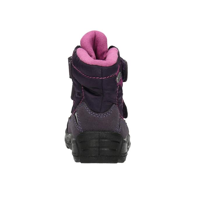 Dětská zimní obuv na suché zipy richter, fialová, 299-9008 - 17