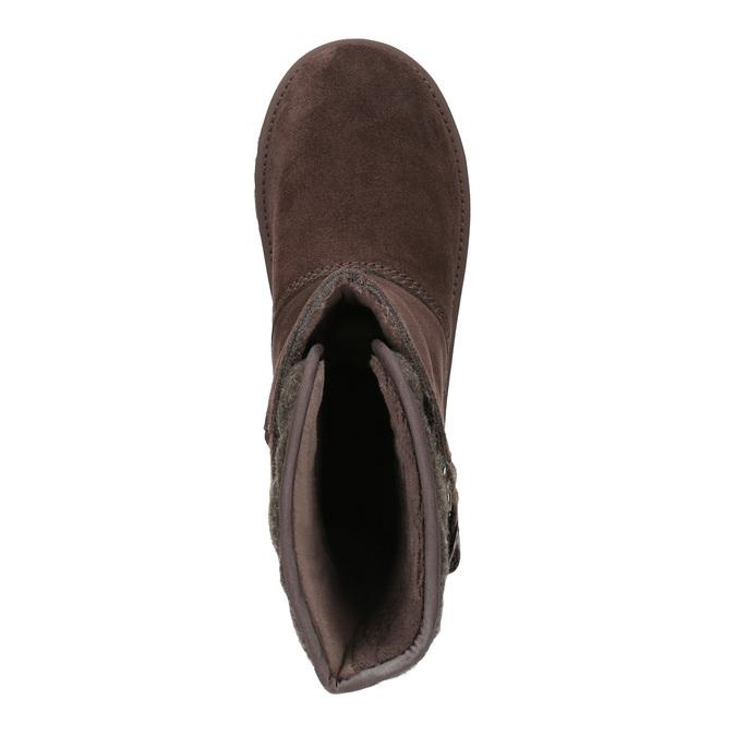 Kožená obuv typu Válenky sorel, hnědá, 693-4002 - 19